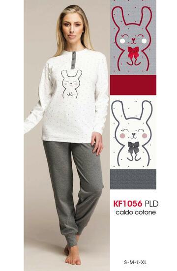 Pigiama donna in cotone caldo Karelpiu' KF1056 - SITE_NAME_SEO