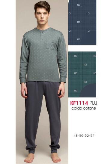 Pigiama uomo in jersey di cotone caldo Karelpiu' KF1114 - SITE_NAME_SEO