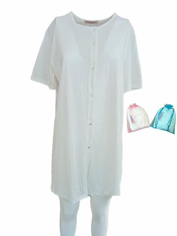 Camicia da notte per partoriente a manica corta Fiorenza Amadori - SITE_NAME_SEO