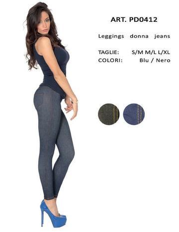 Leggings donna effetto jeans Gladys PD0412 - SITE_NAME_SEO