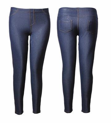 Leggings donna conformata felpata effetto jeans Gladys PD0606 - SITE_NAME_SEO