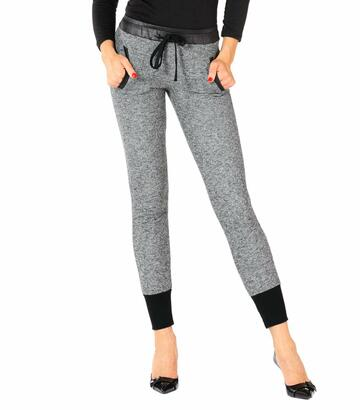 Leggings donna in jersey felpato Gladys PD0842 - SITE_NAME_SEO