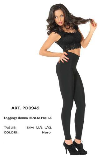 Leggings donna pancia piatta felpata Gladys PD0949 - SITE_NAME_SEO