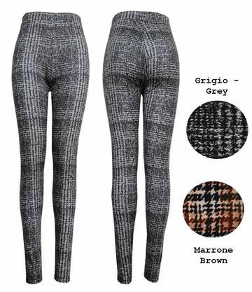 Leggings moda donna in jersey pesante fantasia Gladys PD1288 - SITE_NAME_SEO
