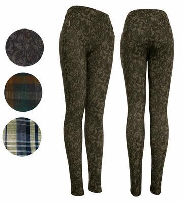 Leggings moda donna felpata Gladys PD1440 con zip - SITE_NAME_SEO