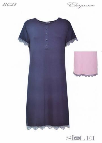 Camicia da notte donna manica corta in viscosa SieLei Elegance RC24 - SITE_NAME_SEO