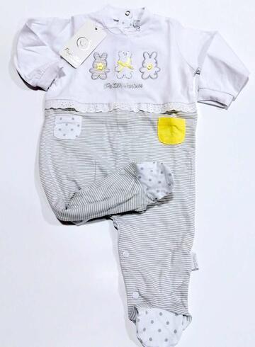 Tutina neonato in jersey di cotone Pastello TJ11M - SITE_NAME_SEO
