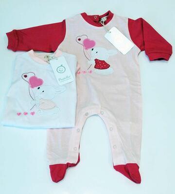 Tutina da neonato in jersey di cotone Pastello TJ22Y - SITE_NAME_SEO