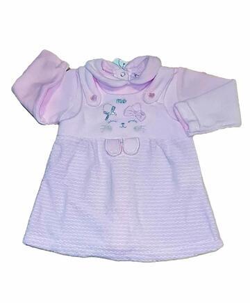 Vestitino in ciniglia neonato Pastello VM5Z - SITE_NAME_SEO