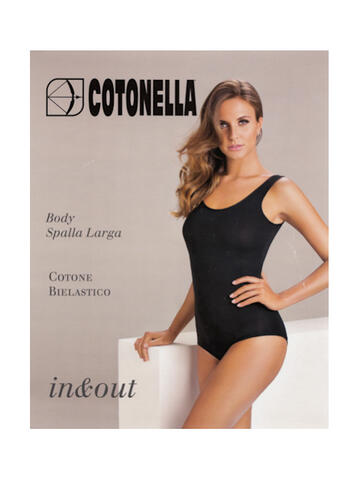 Body donna spalla larga in cotone bielastico Cotonella 3513 - SITE_NAME_SEO