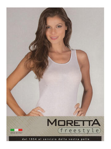 CANOTTA SPALLA LARGA  DONNA MORETTA 1393 BIANCO TG.8 - SITE_NAME_SEO