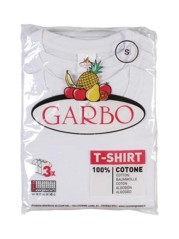 MAGLIA COTONE GIROCOLLO UOMO GARBO 2 T-SHIRT BIANCHE - SITE_NAME_SEO