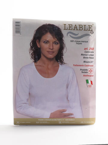 T-SHIRT MANICA LUNGA  DONNA LEABLE 260 - SITE_NAME_SEO
