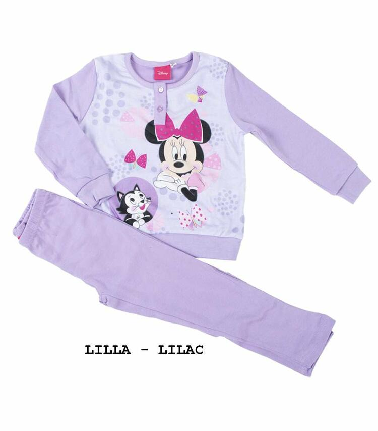 Pigiama da bambina in CALDO cotone Disney Minnie MIN-0017 MINNIE