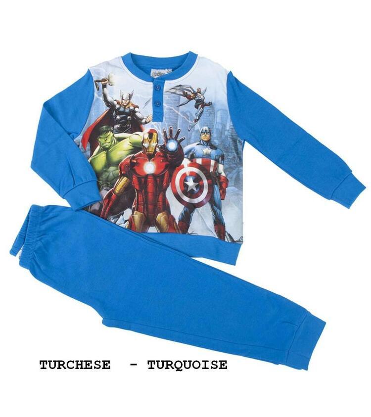 Pigiama da bambino in CALDO cotone Marvel Avengers AVE-0020 Avengers