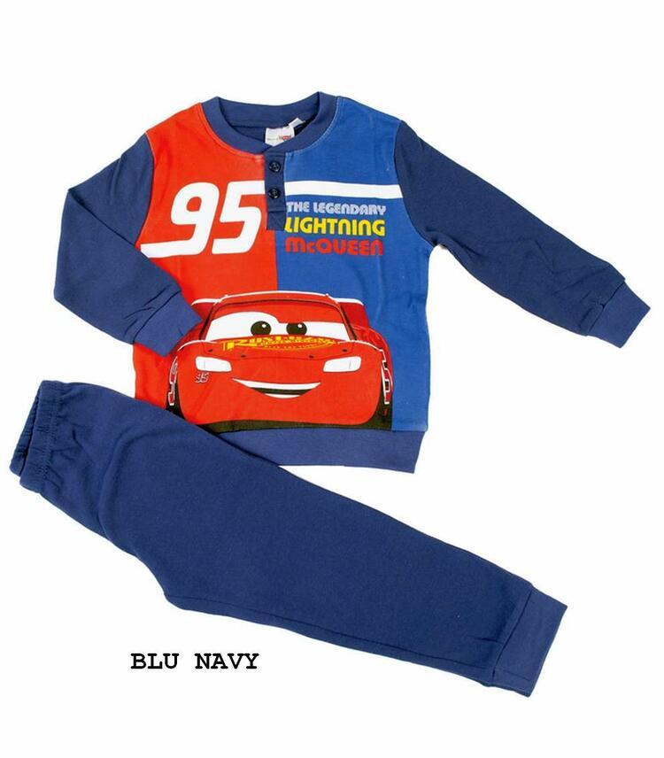 Pigiama da bambino in CALDO cotone Disney Pixar Cars CAR-0023 CARS