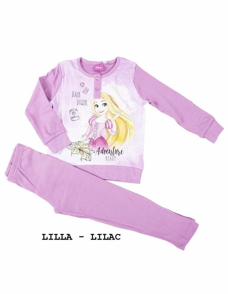 Pigiama da bambina in CALDO cotone Disney Principesse PRI-0024 PRINCESS