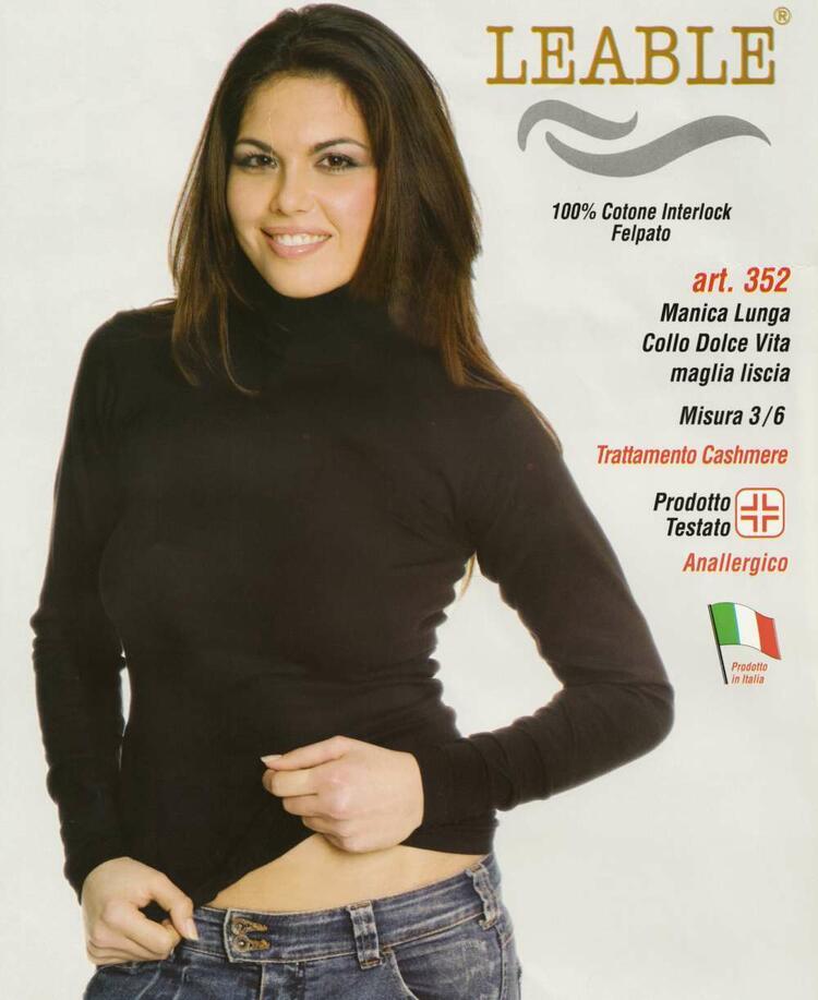 Maglia donna dolce vita in caldo cotone Leable 352 Leable