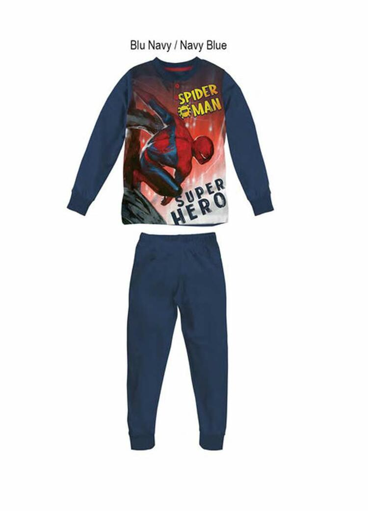 Pigiama da bambino in CALDO cotone Marvel Spiderman MV40M4602 SPIDERMAN