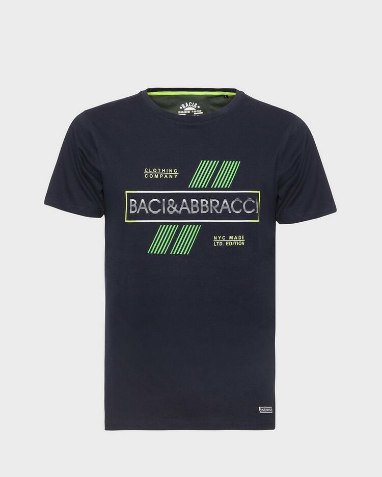 T-SHIRT UOMO STAMPATA BACI&ABBRACCI 4156 Baci & Abbracci