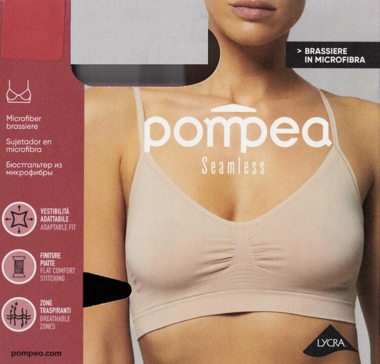 Brassiere donna in microfibra Pompea Seamless art. 89631552 Pompea