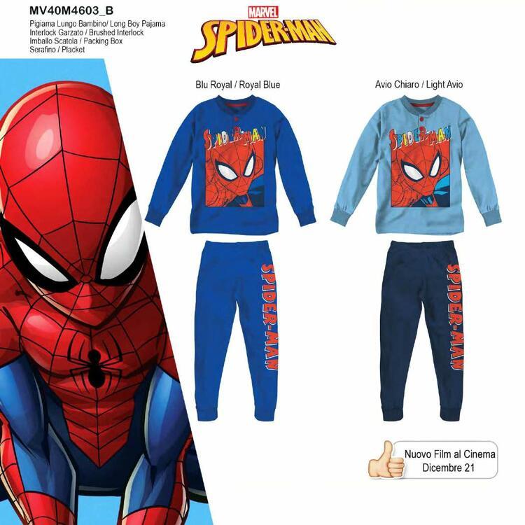Pigiama da bambino in CALDO cotone Marvel Spiderman MV40M4603 SPIDERMAN