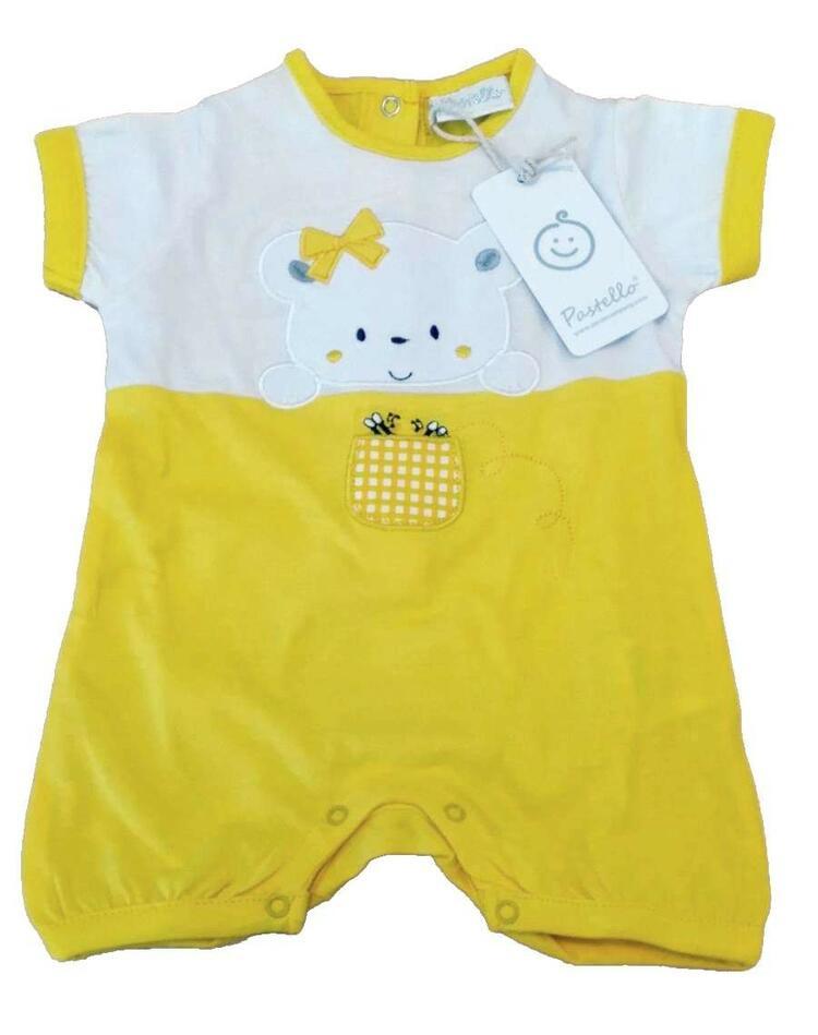 Pagliaccetto in cotone da neonata Pastello PA20Y Pastello
