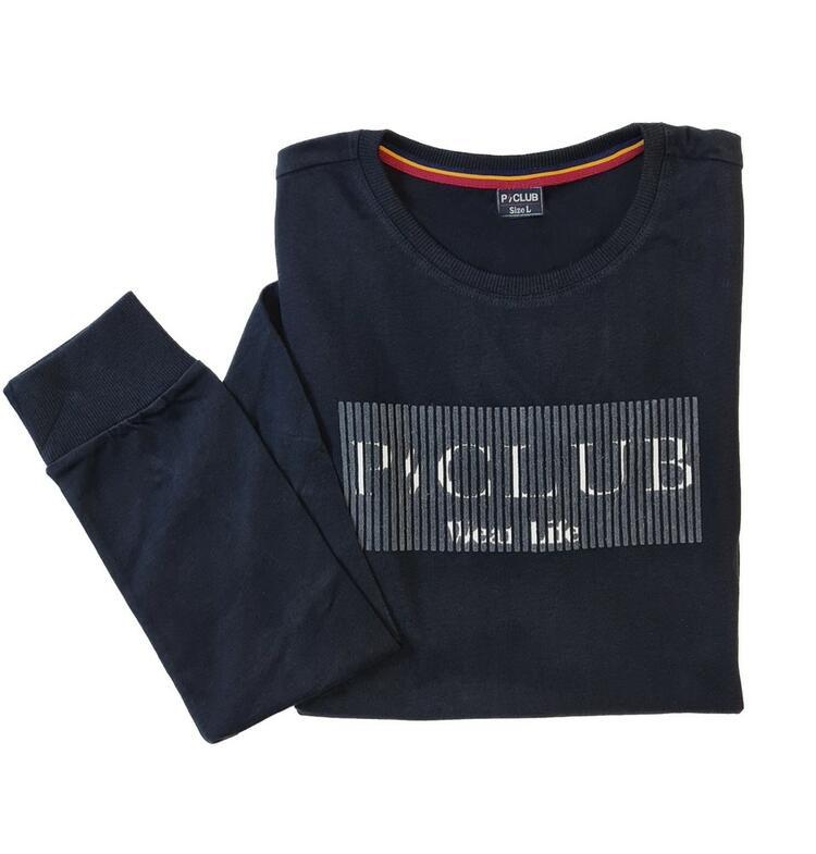 T-SHIRT UOMO MANICA LUNGA STAMPATA P-CLUB TS21463 polo club