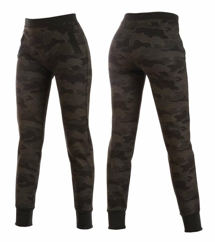 Leggings donna jogger in jersey felpato camouflage Gladys PD1302 Gladys